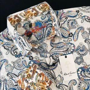 Robert Graham Paisley Shirt Mens Size M NWT